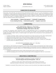 Business Office Manager Resume Template Samples Administration Free