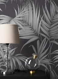 newroom vliestapete blumentapete schwarz palmen wallpaper floral blumen tapete dschungel pflanzen wohnzimmer schlafzimmer büro flur kaufen