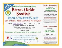 GSA & Barnes And Noble Book Fair | Garden Of The Sahaba Academy ... Gsa Barnes And Noble Book Fair Garden Of The Sahaba Academy 17 Winter Bookfair Fundraiser Scottsdale Ballet Reminder Support The Hiliners At A This Saturday Parsippany Hills High School Notices Npr Burbank Arts For All An Education Nsol Bookfair Ceo Resigns Nook Gets New Boss Tablet News Spotlight Circus Juventas Read On Tucson Family