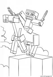 Minecraft Unicorn Coloring Page