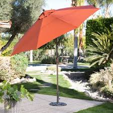 Patio Umbrella Covers Walmart by Coral Coast 9 Ft Spun Poly Push Button Tilt Wind Resistant Patio