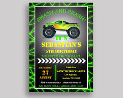 Monster Truck Birthday Invitation Monster Truck Birthday Party ... Free Printable Birthday Cards With Monster Trucks Awesome Blaze And The Machines Invitations Templates List Truck Party 50 Unique Ideas Cookie Free Pvc Invites Vip Invitation Novel Concept Designs Mud Thank You Card Truck Party Printable