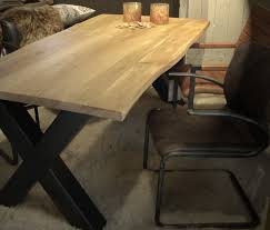 meuble 騅ier cuisine occasion stoere xross tafel massief eiken