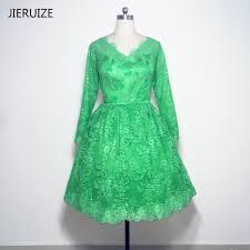 high quality green lace long sleeve short dress buy cheap green