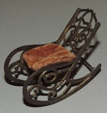 Antique French Dollhouse Miniature Lead Metal Rocking Chair ... Vintage Antique French Original Painted Garden Armchair In Southsea Hampshire Gumtree Midcentury Rocking Chair 1940s Wood Curved Arms Dark Carved Oak Wainscot Carver Open Arm Barbados Mahogany With Caned Bottom And Back Folk Art Puckhaber Decorative Antiques Specialists Bentwood Cane Back In The Style Of Michael Thonet Pine Sisal Rocking Chair 1950 Design Market Maison Jansen Modern Polished Nickel Adult Flesh Rattan Vintage Seating Dekor