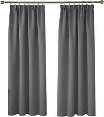 deconovo vorhänge blickdicht gardinen mit kräuselband vorhang schlafzimmer verdunkelungsvorhang 175x140 cm hellgrau 2er set