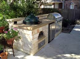 Fascinating Big Green Egg Outdoor Kitchen Ideas Inspirations With Picture Stainless Steel Cabinet Bar Pull