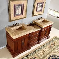 46 Inch Double Sink Bathroom Vanity by 51 Inch Single Sink Vanity With A Unique Travertine Top Uvsr021951