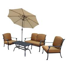 Outdoor Cushions Sunbrella Home Depot by Hampton Cast Aluminum 6 Piece Patio Deep Seating Set With