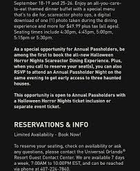 Halloween Horror Nights Annual Passholder Rsvp 2017 by 100 Annual Passholder Halloween Horror Nights Universal
