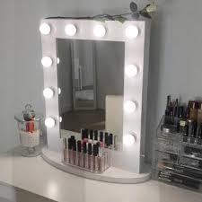 lights lighted makeup mirror wall mount battery operated in