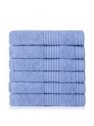 4 thick and thirsty cotton bath towels 26x52 royal blue utopia