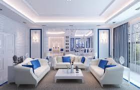 interior design white and blue living room design ideas