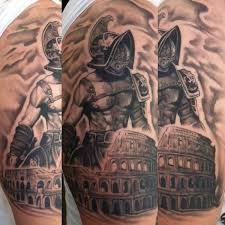 Warrior Gladiator Mens Tattoo