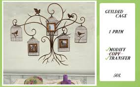 GUILDED CAGE WALL ART BIRD PARIS SHABBY CHIC