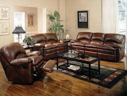 Bobs Furniture Leather Sofa Recliner by Living Room Brown Leather Reclining Couch Contemporary Sofa