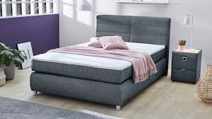 boxspringbett franzie bett schlafzimmerbett in blau mit