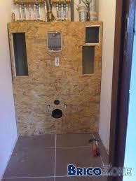 habillage cloison d un wc suspendu explications et détails