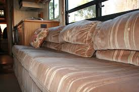 rv renovation jackknife couch before after dirt roads big skies