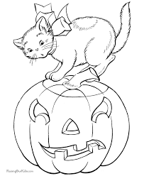 Halloween Cat Coloring Picture