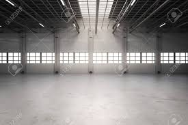 3d Rendering Empty Factory Interior Empty Warehouse Stock