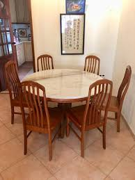 Round Marble Dining Table Set With 6 Chairs, Furniture ...