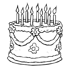 Awesome Birthday Cake Coloring Pages 56 Print Coloring Pages With Birthday Cake Coloring Pages