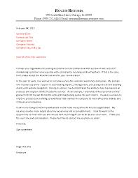 Service Cover Letter Example