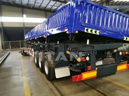 100 Side Dump Truck Titan 40 Tons 3 Axles Hydraulic Tipper 12 Tires Trailer For Sale Buy Tipper Trailer3 Axle TrailerTipper