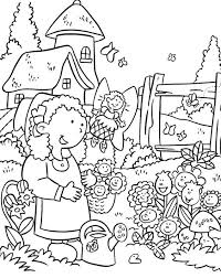 Garden clipart line drawing 6