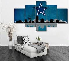 Dallas Cowboys Home Decor by Dallas Cowboys City Skyline Canvas Prints Painting Wall Art 5