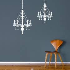 chandelier vinyl wall decal wall dressed up