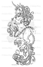 Unicorn Fantasy Myth Mythical Mystical Legend Licorne Enchantment Coloring Pages Colouring Printable Adult Detailed Advanced