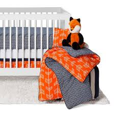 sweet jojo designs orange navy arrow 11pc crib bedding set