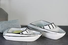 casablanca yacht aus keramik 26cm für badezimmer seifenablage figur tolle deko und geschenkideen figuren accessiors mit dem glücksfaktor