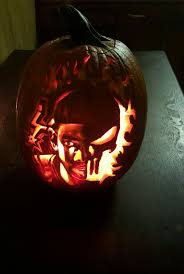 Ohio State Pumpkin Carving Patterns by Check Out This Wicked Tim Duncan Punisher Pumpkin Carving By A