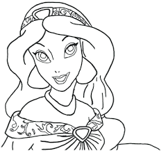 Picture Jasmine Coloring Pages Free Children Disney Princess To Print Games Baby Full Size
