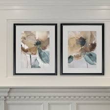 Watercolor Poppy 2 Piece Framed Graphic Art Print Set