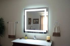 bathroom mirrors lighted lighting modern mirror magnifying 10x