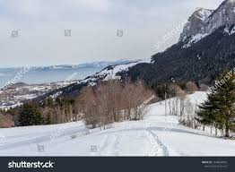 100 Le Pines Picturesque Alps Lots Snow Side Stock Photo Edit Now