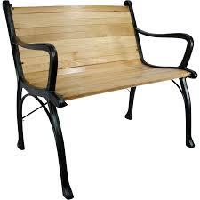 Vintage Cast Iron Oak Wood Floor Slat Patio Garden Porch Chair Bench Utiques Antiques