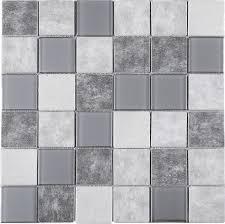 Iridescent Mosaic Tiles Uk by Glass Mosaic Tiles Buy Irregular Shape Gray Mixed Black Color