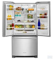 Counter Depth Refrigerator Width 30 by 33 Kitchenaid 22 Cu Ft Width Standard Depth French Door Refrigerator