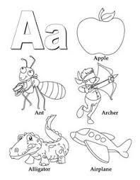 My A To Z Coloring Book Letter Page