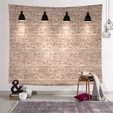 china helle backstein tapisserie wandbehang retro gelber