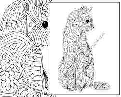 Cat Coloring Page Advanced By TheColoringAddict