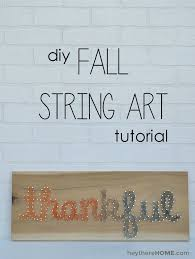 Make Your Own String Art Sign To Add Modern Fall Decor