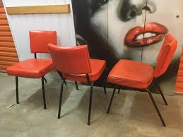 Retro Vintage Australian 1960's Burnt Orange Vinyl & Metal Kitchen ... Saddle Leather Ding Chair Garza Marfa Jupiter White And Orange Plastic Modern Chairs Set Of 2 By Black Metal Cafe Fniture Buy Eiffel Inspired White Orange With Legs Grand Tuscany Total Sizes Wd325xh36 Patio Urban Kitchen Shop Asbury With Chromed Velvet Vivian Of World Market Industrial Design Slat Back Products Flash Indoor Outdoor Table 4 Stack