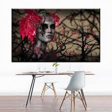 großhandel zz706 moderne abstrakte leinwand kunst afrikanische frauen blume leinwand ölkunst malerei wandbilder für wohnzimmer schlafzimmer dekoration