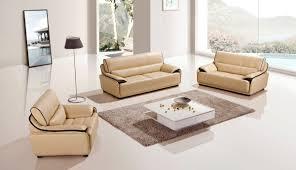 Modern Leather Sofa Set Baccardi Yellow Dark Brown Slick